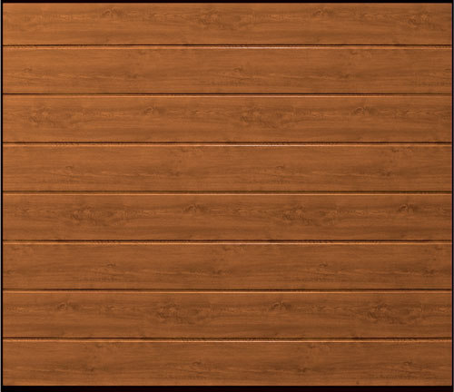 Sectional Garage Door - Linear Medium Oak