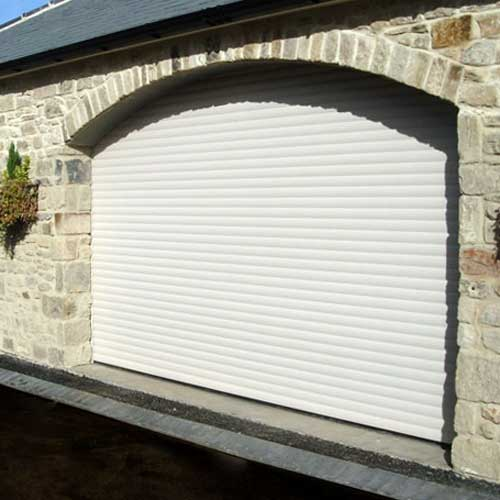 Roller Shutter Garage Door - White Arch