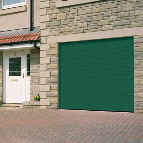 Roller Shutter Garage Door - Green