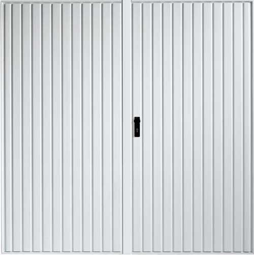 Side Hinged Garage Door - White Carlton